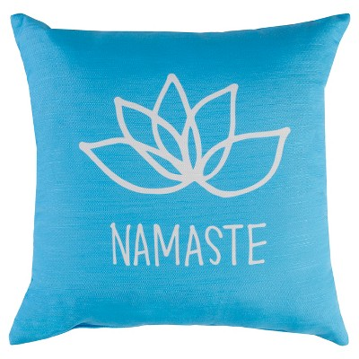 "Decorative Pillow Namaste Blue (18""x18"") - Surya"