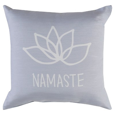 "Decorative Pillow Namaste Grey (18""x18"") - Surya"