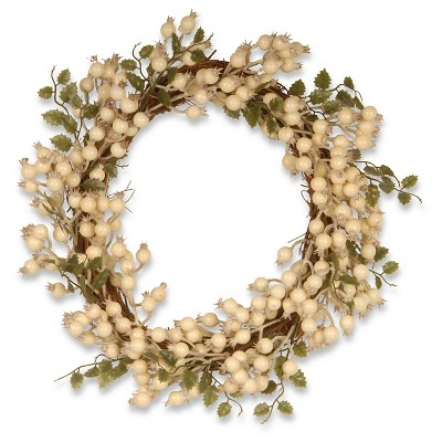 "Vine Wreath - White Berry (24"")"