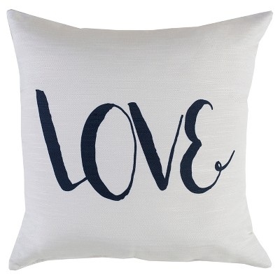 "Decorative Pillow Love White (18""x18"") - Surya"