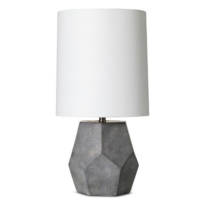 "Concrete Accent Lamp - Grey/White (9x9x17.5"") The Industrial Shop"