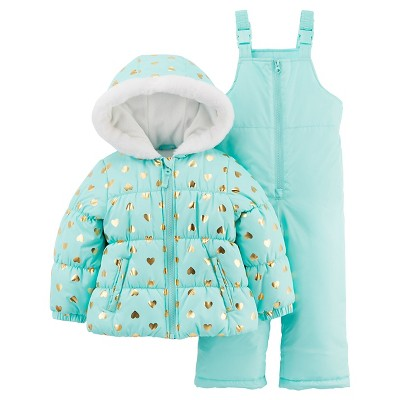 Just One You™Made by Carter's® Girls' 2 Piece Snowsuit Set - Mint 12M