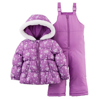 Just One You™Made by Carter's® Girls' 2 Piece Snowsuit Set - Purple 18M