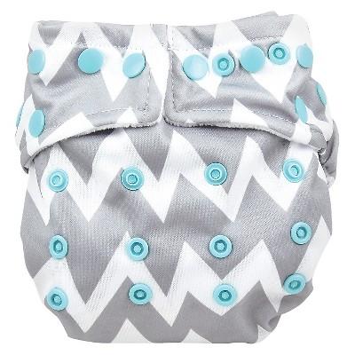Bumkins Snap-in-one Cloth Diaper, Gray Chevron