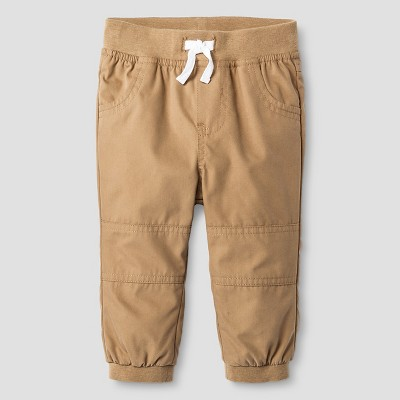 Baby Boys' Lined Jogger Pant Baby Cat & Jack™ - Sandstone 12M