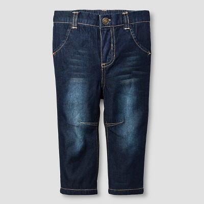 Baby Boys' Denim Jeans Baby Cat & Jack™  - Dark Wash 3-6M