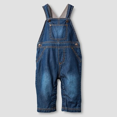 Baby Lined Denim Overall Baby Cat & Jack™  - Dark Wash 3-6M