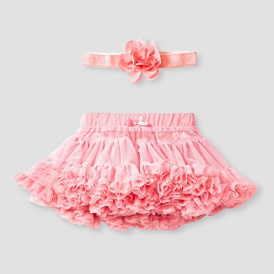 Baby Girls' Tutu Skirt and Headband Set Baby Cat & Jack™  - Pink 3-6M
