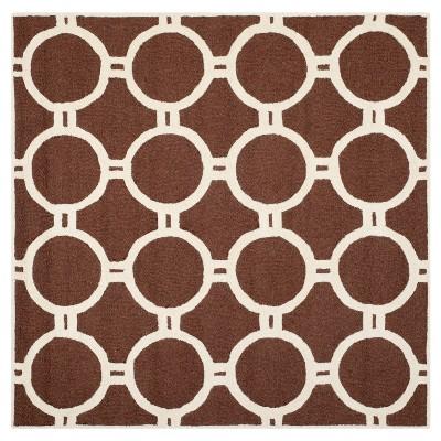 Safavieh Sullivan Area Rug - Dark Brown / Ivory ( 8' X 8'  )