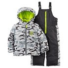 Toddler Boys' 2pc Snowsuit Camo Grey - Just One You™Made by Carter's®