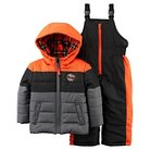 Baby Boys' 2pc Snowsuit Orange/Grey - Just One You™Made by Carter's®
