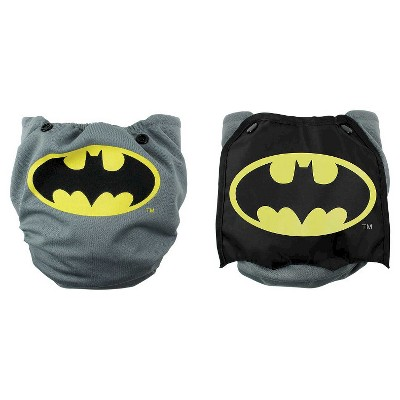 Bumkins DC Comics Snap-in-One Diaper with Cape, Batman
