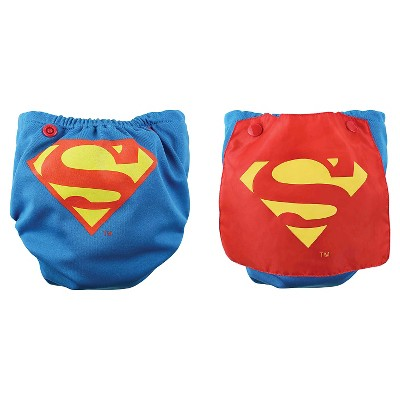 Bumkins DC Comics Snap-in-One Diaper with Cape, Superman