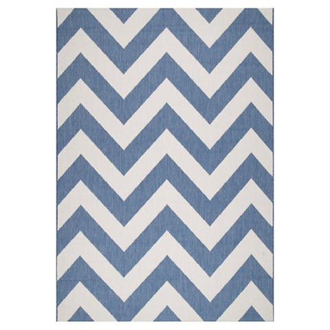 nuLOOM Maxine Chevron Indoor Outdoor Rug Tar