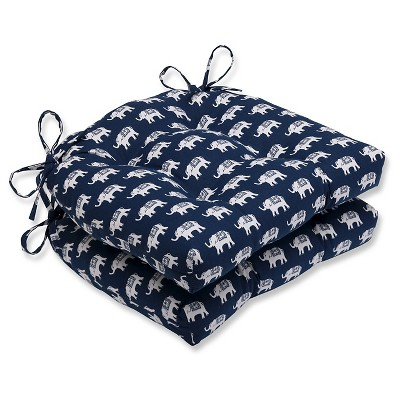 Pillow Perfect Blue 15.5 X 16 X 4 Chair Pad