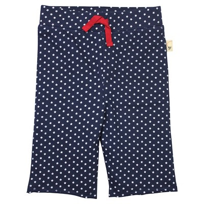 Burt's Bees Baby™ Star Capri Legging - Midnight Blue 3-6M