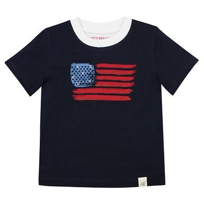 Burt's Bees Baby™ American Flag Tee - Midnight Blue 12M