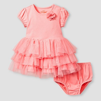 Baby Girls' Short-Sleeve Tutu Dress Baby Cat & Jack™  - Pink 0-3M