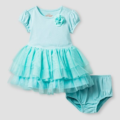 Baby Girls' Short-Sleeve Tutu Dress Baby Cat & Jack™ - Turquoise 6-9M