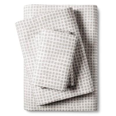 City Scene Cuboid Sheet Set - Gray (Queen)