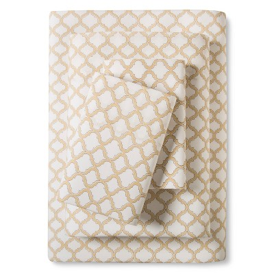Stone Cottage Quatrefoil Adele Sheet Set King Straw