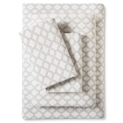 Stone Cottage Quatrefoil Adele Sheet Set King Graphite