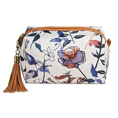 Women's Floral Pouch Clutch Cream - Mossimo Supply Co.