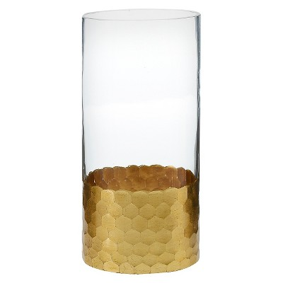 Vase Accent Decor Glass 8in