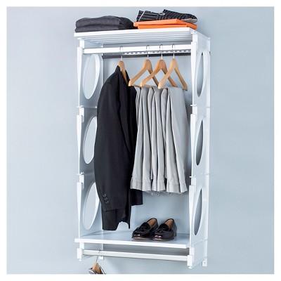 "Kio Storage 2"" Closet and Shelving Kit- White"