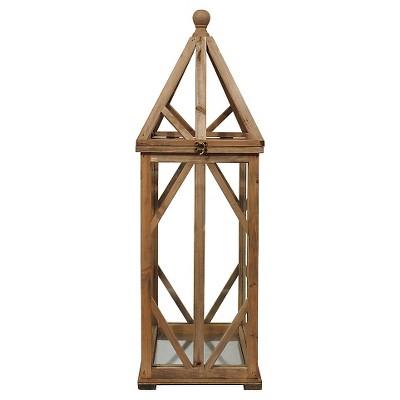 "Glass Wood and Metal Terrarium (34-1-2""H)"