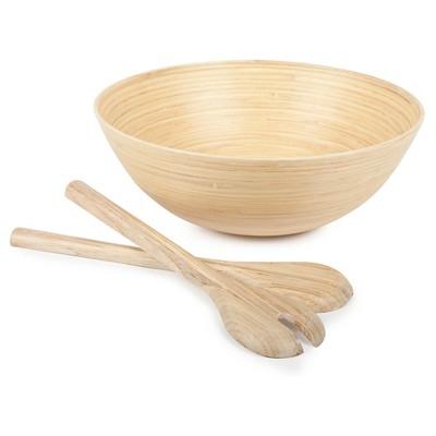 Core Bamboo Modern Extra Large Spun Bamboo Bowl & Servers