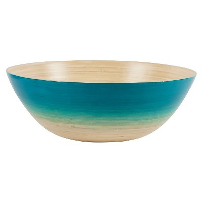 Core Bamboo Sunset Spun Bamboo Bowl - Aqua
