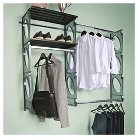 "Kio Storage 5"" Closet and Shelving Kit - Black"
