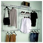 "Kio Storage 8"" Closet and Shelving Kit - Frost"