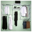 "Kio Storage 8"" Closet and Shelving Kit - White"