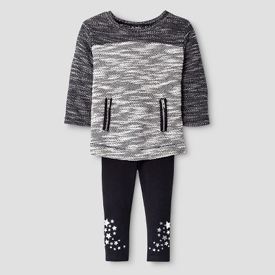 Baby Girls' 2-Piece Set - Black 12M - Cat & Jack™