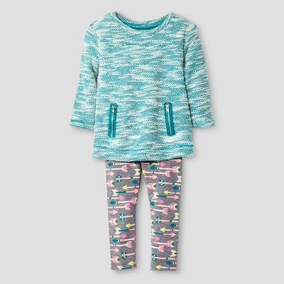Baby Girls' 2-Piece Set - Teal 12M - Cat & Jack™