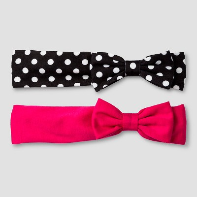 Girls' 2 Pack  Bow Cat & Jack™ - Dot and Solid
