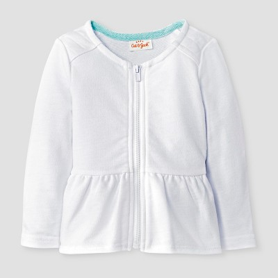 Baby Girls' Quilted Zip-Up Jacket Baby Cat & Jack™ - White 6-9M