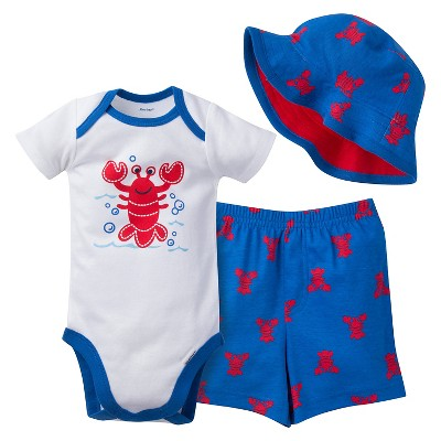 Gerber® Baby Boys' 3 Piece Lobster Set 6-9M