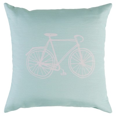 "Decorative Pillow Bike Mint (18""x18"") - Surya"