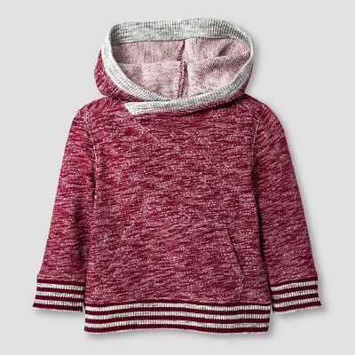 Baby Boys' Pullover Hooded Sweatshirt Baby Cat & Jack™ - Cherry Red 12 M
