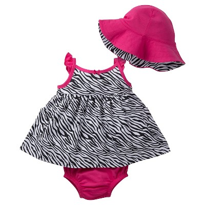 Gerber® Baby Girls' Zebra Dress Set 0-3M
