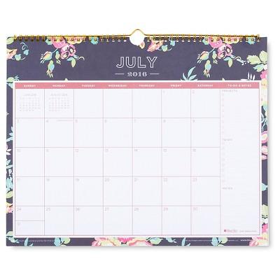 "Day Designer Wall Calendar, 2016-2017, 15"" x 12"" - Multicolor"