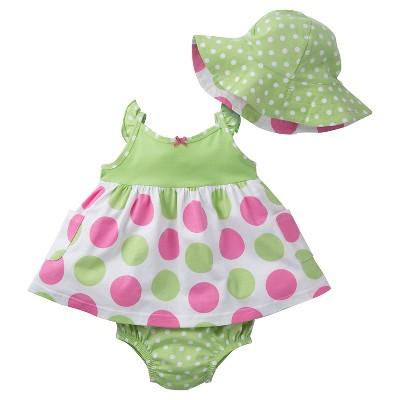 Gerber® Baby Girls' Pink Dot Dress Set 3-6M