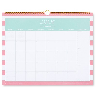 "Day Designer Wall Calendar, 2016-2017, 15"" x 12"" - Creamsicle"