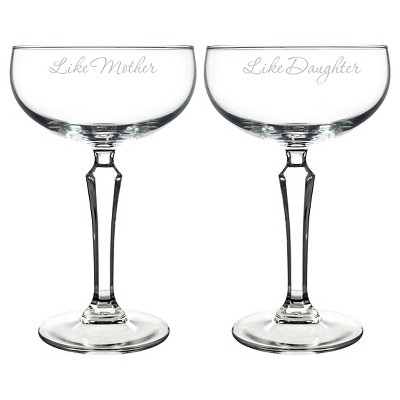 Mother's Day 'Like Mother, Like Daughter' Champagne Glasses