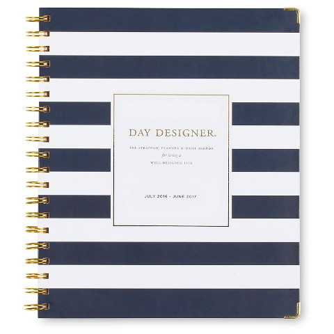 Planner Day Designer Navy White Target