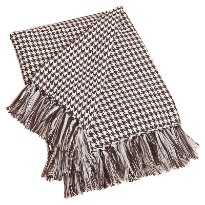 "Houndstooth Throw Chocolate (50""x60"")"