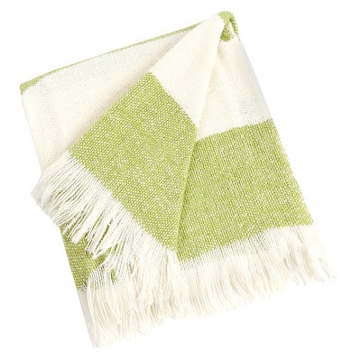 "Striped Design Throw Lime (50""x60"")"
